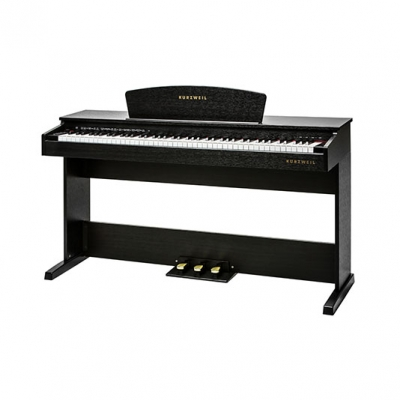 M70 PIANO KURZWEIL 88 NOTAS-16 DEMOS-64 VOCES POLIFONIA-USB-3 PEDALES-CON BANQUETA-COLOR MARRON