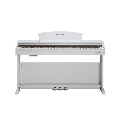 M90 PIANO KURZWEIL 88 NOTAS HAMMER ACTION-16 DEMOS-64 VOCES POLIFONIA-2 PARLANTES 15w-BANQUETA INCLUIDA-3 PEDALES-COLOR BLANCO
