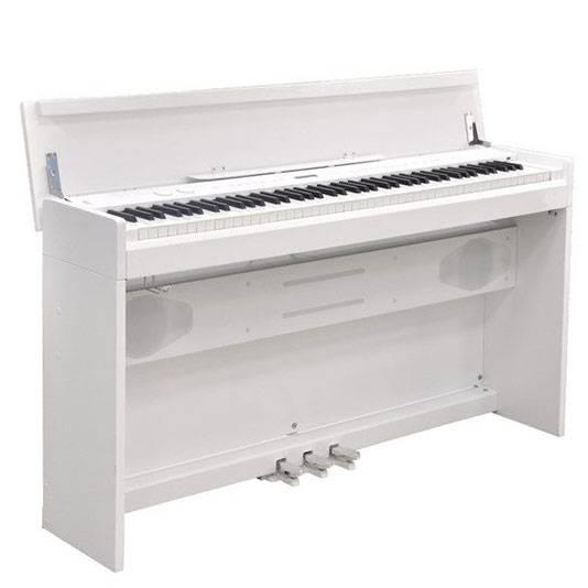 PIANO ELECTRICO RINGWAY POLIFONIA 64-128 VOCES-3 PEDALES CON TAPA-COLOR BLANCO