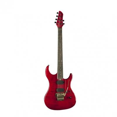 GUITARRA ELECTRICA EKO C/FLOYD ROSE 2 MIC DOBLE+1 SIMPLE WILKINSON-COLOR WINE RED