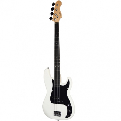 BAJO LEONARD PRECISION-COLOR BLANCO PICKGUARD NEGRO