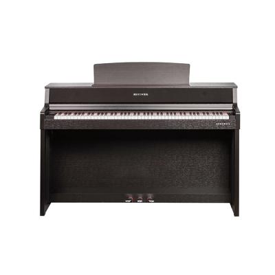 PIANO ELECTRICO KURZWEIL-TECLAS DE MADERA-256 VOCES POLIFONIA-50 SONIDOS-BLUETOOTH-USB-BANQUETA-SISTEMA DE SONIDO INTEGRADO 70W 4 PARLANTES-COLOR MARRON
