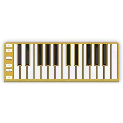 CONTROLADOR MIDI XKEY 25 NOTAS-ULTRA LIVIANO-128 NIVELES DE SENSIBILIDAD-OCTAVADOR-INCLUYE CABLE USB-COLOR DORADO