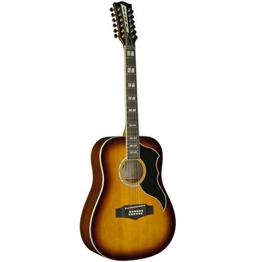 GUITARRA ACUSTICA EKO RANGER VINTAGE FOLK 12 CUERDAS CON EQ-COLOR HONEY BURST