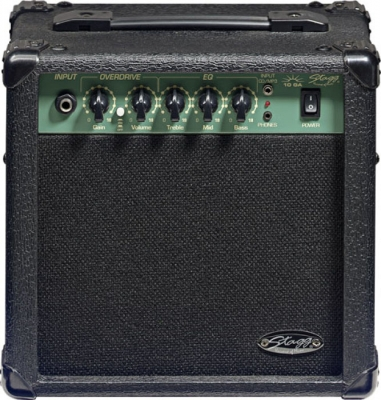 AMPLIFICADOR STAGG PARA GUITARRA ELECTRICA 10 WATTS-DISTORSION