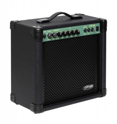 AMPLIFICADOR STAGG PARA GUITARRA ELECTRICA 20 WATTS-DISTORSION