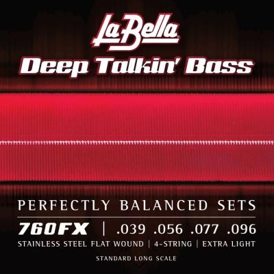 ENCORDADO LA BELLA DE BAJO DEEP TALKIN BASS FLAT 039/096 EXTRA LIGHT