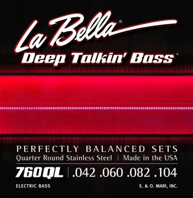 ENCORDADO LA BELLA DE BAJO DEEP TALKIN BASS FLAT 042/104