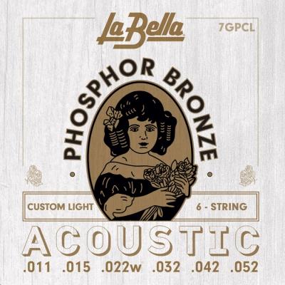 ENCORDADO LA BELLA DE GUITARRA ACUSTICA PHOSPOR BRONZE 011/052