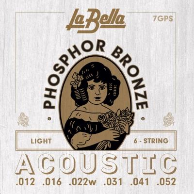 ENCORDADO LA BELLA DE GUITARRA ACUSTICA PHOSPOR BRONZE 012/052