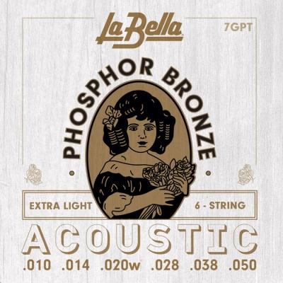 ENCORDADO LA BELLA DE GUITARRA ACUSTICA PHOSPOR BRONZE 010/050