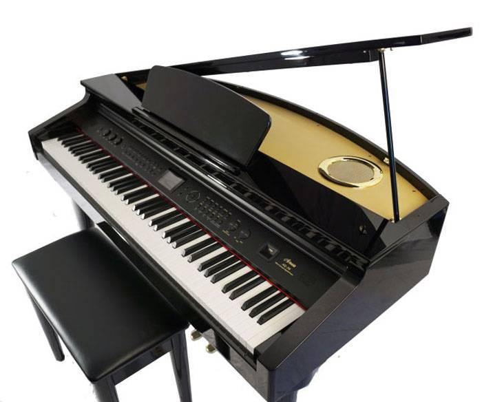 PIANO ELECTRICO ARTESIA MINI GRAND NEGRO INC BANQUETA