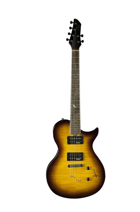 GUITARRA ELECRICA EKO TIPO LP 2 MICS DOBLES-CON FUNDA-COLOR SUNBURST