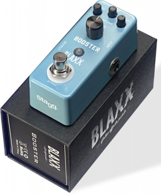 BLAXX MINI PEDAL BOOSTER-CARCASA METALICA-TRUE BYPASS