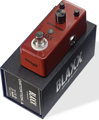 BLAXX MINI PEDAL DISTORSION 2 MODOS-CARCASA METALICA-TRUE BYPASS