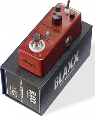 BLAXX MINI PEDAL DISTORSION 3 MODOS-CARCASA METALICA-TRUE BYPASS