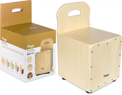 CAJON STAGG PARA CHICOS CON RESPALDO-TAPA COLOR NATURAL