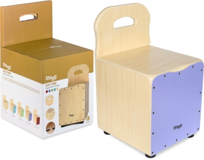 CAJON STAGG PARA CHICOS CON RESPALDO-TAPA COLOR PURPURA