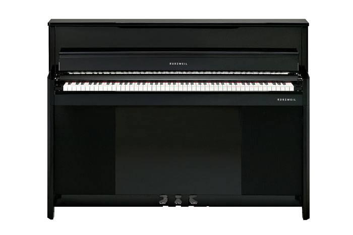 CUP1BP PIANO ELECTRICO KURZWEIL VERTICAL-TECLAS DE MADERA-256 VOCES POLIFONIA-BLUETOOTH-USB-3 PEDALES-BANQUETA INCLUIDA-COLOR NEGRO