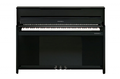 CUP1BP PIANO ELECTRICO KURZWEIL VERTICAL-TECLAS DE MADERA-256 VOCES POLIFONIA-BLUETOOTH-USB-3 PEDALES-BANQUETA INCLUIDA-COLOR NEGRO