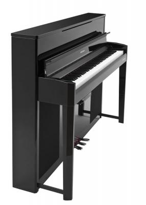 CUP2ABP PIANO ELECTRICO KURZWEIL VERTICAL-TECLAS DE MADERA-88 SONIDOS-128 VOCES POLIFONIA-3 PEDALES-INCLUYE BANQUETA-COLOR NEGRO
