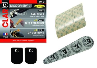DISCOVERY KIT BG CLARINETE INCLUYE 2xA10-3xA80S-1xA65S