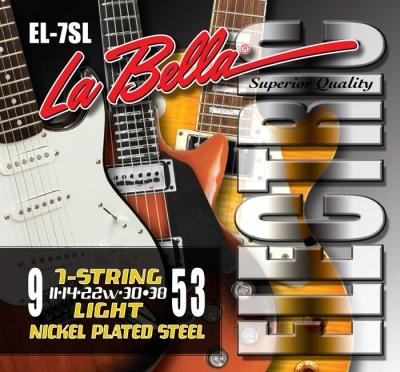 ENCORDADO LA BELLA DE GUITARRA ELECTRICA 7 CUERDAS 009/053