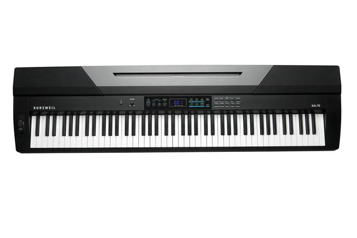 KA70 PIANO DIGITAL KURZWEIL 88 NOTAS TECLAS SEMIPESADAS-128 VOCES POLIFONIA-20 SONIDOS-50 RITMOS-USB/MIDI