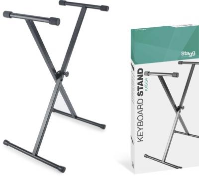 SOPORTE TIJERA STAGG PARA TECLADO-REGULACION POR PUNTOS-CAPACIDAD 30kg
