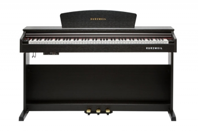 M90 PIANO KURZWEIL 88 NOTAS HAMMER ACTION-16 DEMOS-64 VOCES POLIFONIA-2 PARLANTES 15w-BANQUETA INCLUIDA-3 PEDALES-COLOR MARRON