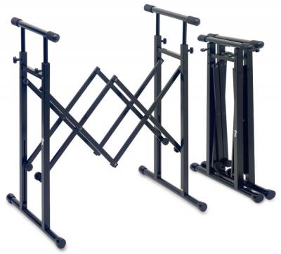 SOPORTE STAGG PARA MIXER-TECLADO-ESTILO ACORDEON-CAPACIDAD 60kg
