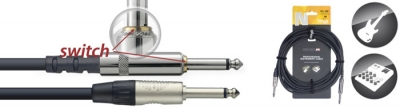 CABLE STAGG PRO PLUG-PLUG 6mts CON SWITCH