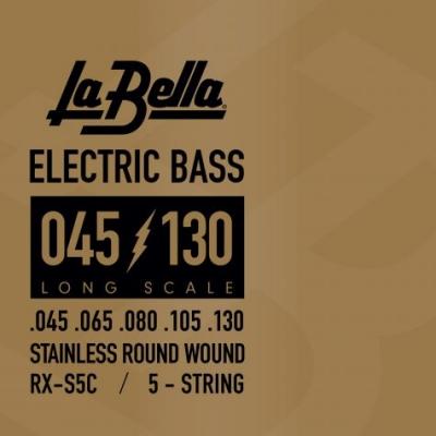 ENCORDADO LA BELLA DE BAJO 5 CUERDAS RXS 045-065-080-105-130