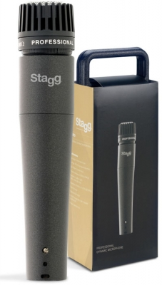 MICROFONO STAGG DINAMICO CARDIOIDE PROFESIONAL PARA INSTRUMENTOS CON CABLE 5 mts-ESTUCHE