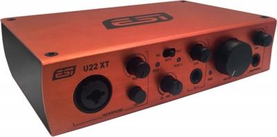 PLACA DE AUDIO ESI 2 INPUT/2 OUTPUT-USB 2.0 24bit/96khz-48V PHANTOM -USB-INPUTS MIC-GUITARRA-LINEA