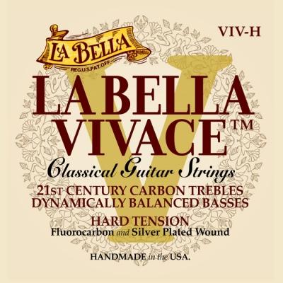 ENCORDADO LA BELLA DE GUITARRA CLASICA VIVACE CARBON-TENSION HARD