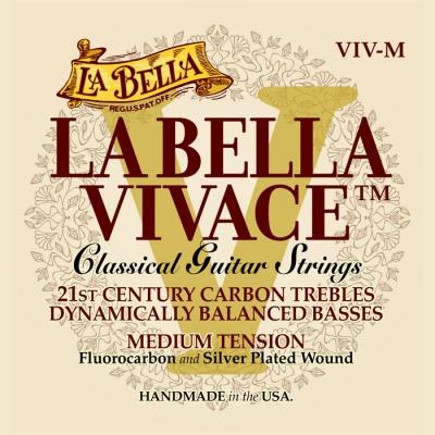 ENCORDADO LA BELLA DE GUITARRA CLASICA VIVACE CARBON-TENSION MEDIUM