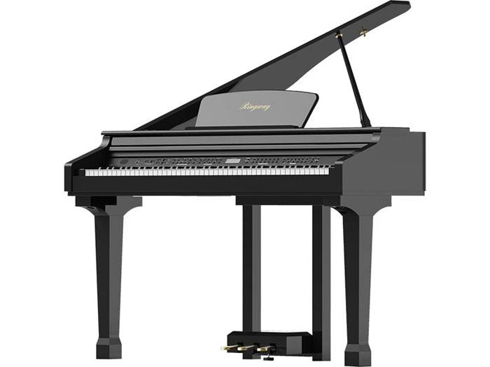 PIANO ELECTRICO RINGWAY MINI GRAND - INCLUYE BANQUETA - COLOR NEGRO