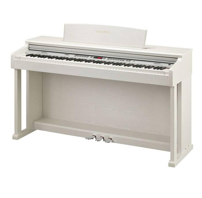 KA150WH PIANO DIGITAL KURZWEIL 88 NOTAS CON MUEBLE-128 SONIDOS-26 RITMOS-68 VOCES POLIFONIA-LED DISPLAY-USB/MIDI-COLOR BLANCO